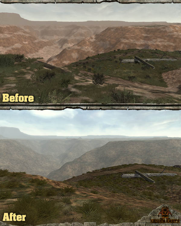 Fallen Earth - improved graphics compare screen 1